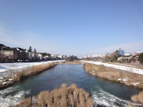 桜橋より犀川