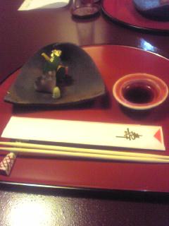 東京タワー前の店で食事