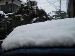 午後1時頃までの積雪