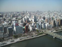 浅草寺と駅方面