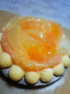オレンジとGFのケーキ