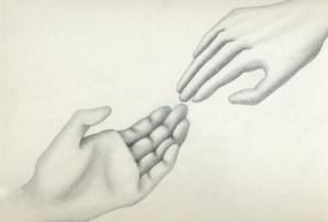 ふたりの手