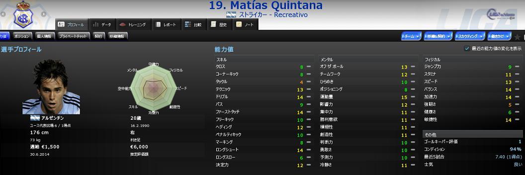 19 Matías Quintana