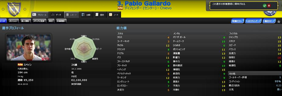 Pablo Gallardo移籍
