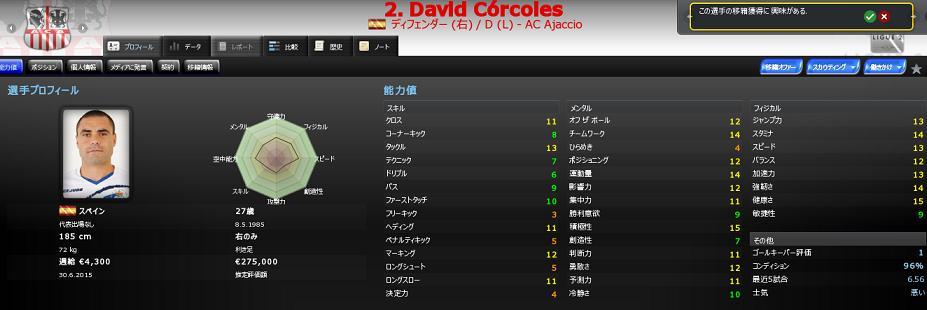 David Córcoles 移籍