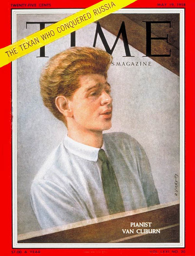 ヴァン・クライバーンが表紙を飾った『Time』誌