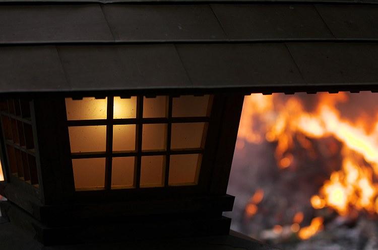 小国神社のどんど焼き 1