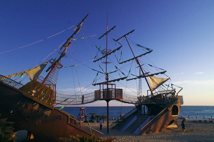 船のある公園