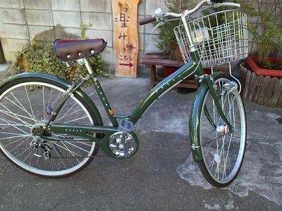 かみさんの新しい自転車