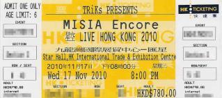 misia ticket
