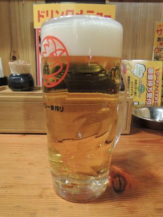一番搾り生ビール(中)(294円)