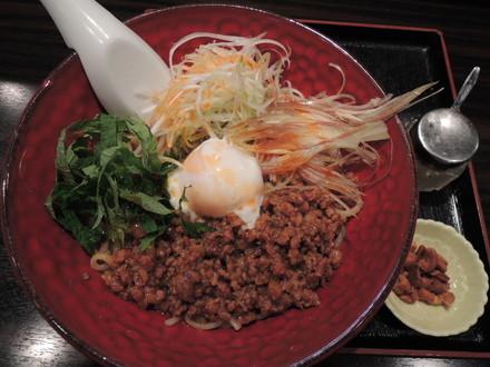 汁なし坦々麺(温)(750円)