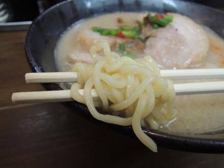 鶏豚骨らぁめんの麺