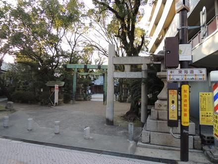 旧東海道「諏訪神社」(四日市市諏訪栄町)