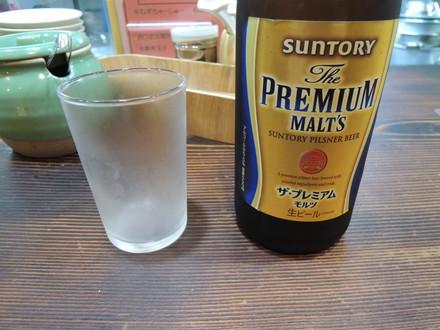 瓶ビール(プレミアムモルツ)(600円)