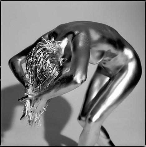 銀メッキボディペイント - Guido Argentini