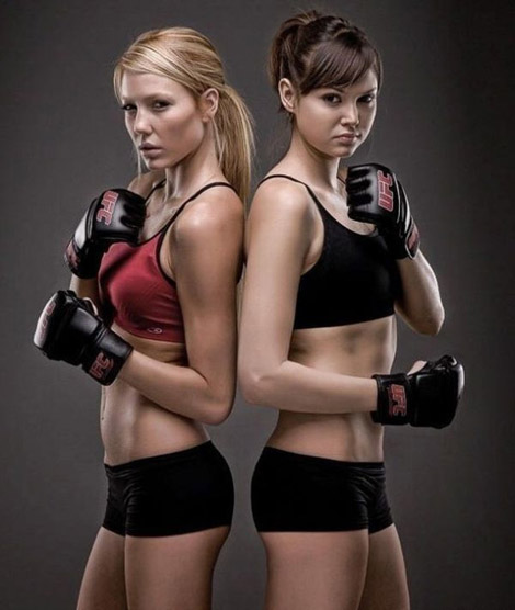 Sexyな女性ボクシングモデルs