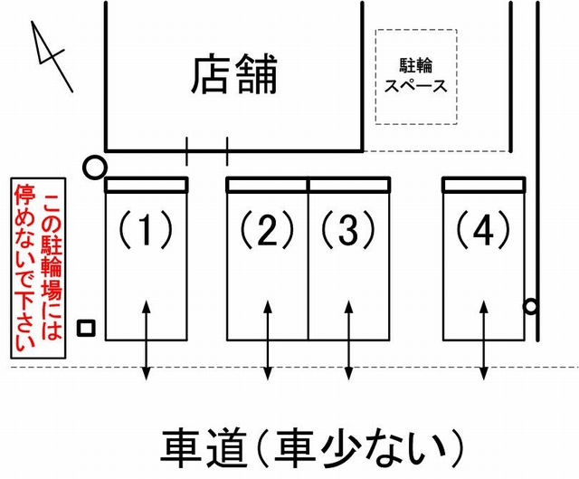 mori cafe駐車場見取り図