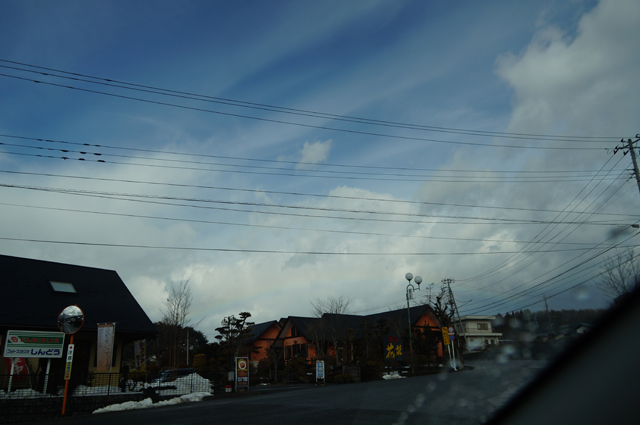 小淵沢で見た虹
