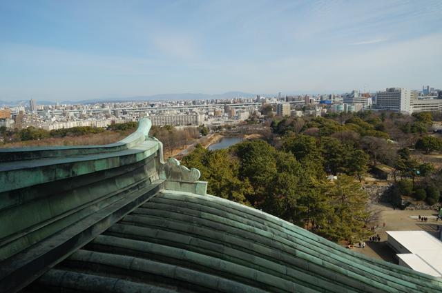 すごくいい眺め名古屋城の天守閣