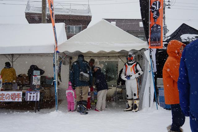 十日町雪まつりの飯山線SL運行を応援する市民の会ブース