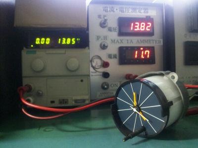 ジェコーDM型モータを用いた1011 11 711 クロックの消費電流
