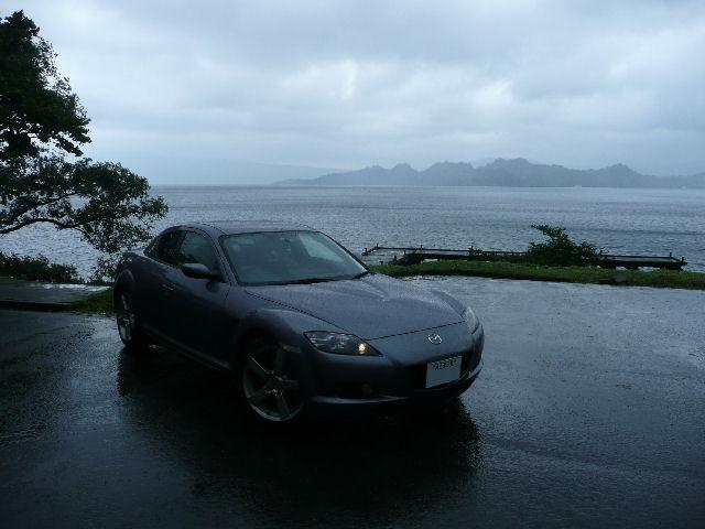 RX-8と十和田湖