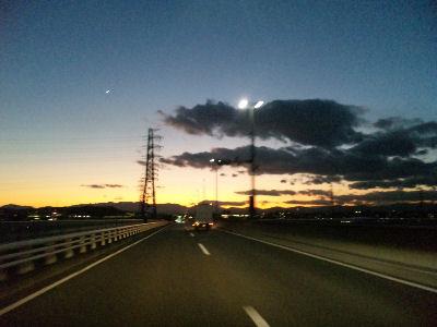きれいな夕焼け初冬'09