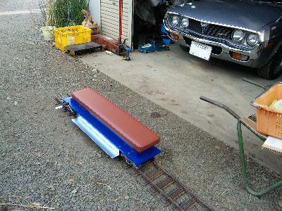 出来上がった、小川精機の軽量乗用台車キット