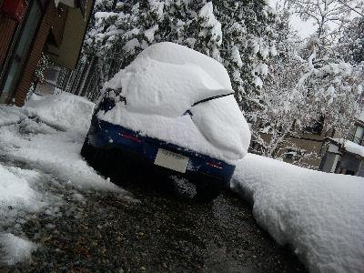 雪に埋もれたアクセラ