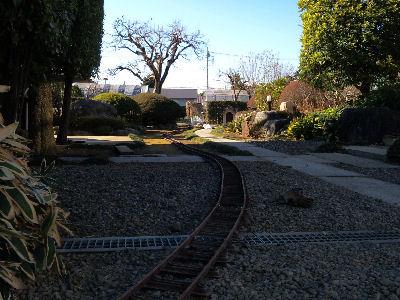 簡易庭園軌道・庭園鉄道の図