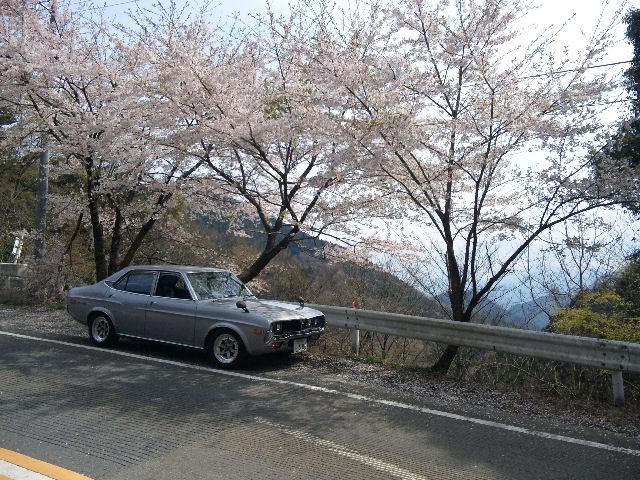 マツダルーチェと2010年、甲武トンネル付近の桜