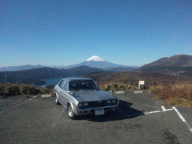 ルーチェと富士山、大観山にて