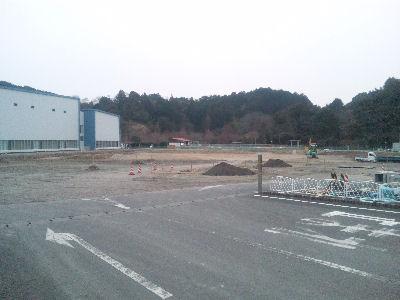 島田市中央公園、ライブスチームのレールを工事中-2011年新春