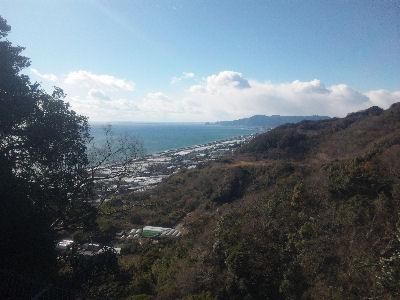 久能山から眺める駿河湾