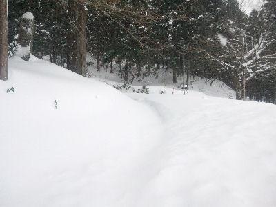 いざ、カンジキをはいて雪中行軍