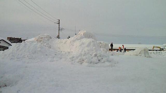 雪まつり終わって