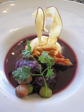 紫いものアフォガード