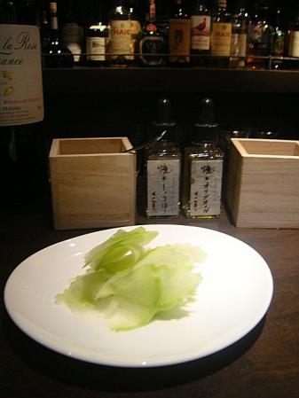 大根のサラダと燻製醤油 燻製オリーブオイル