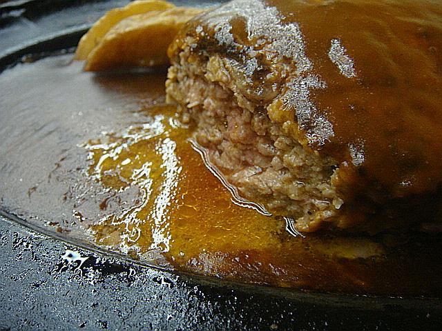 ハンバーグの肉汁@吉澤