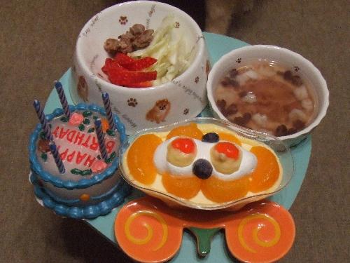 レオのお誕生日ご飯