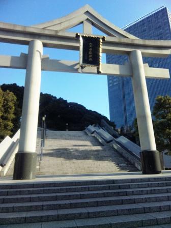 はとバスツアー_日枝神社階段下
