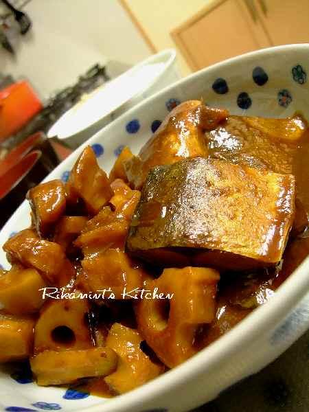 DSCF1・13鯖と蓮根の味噌煮1