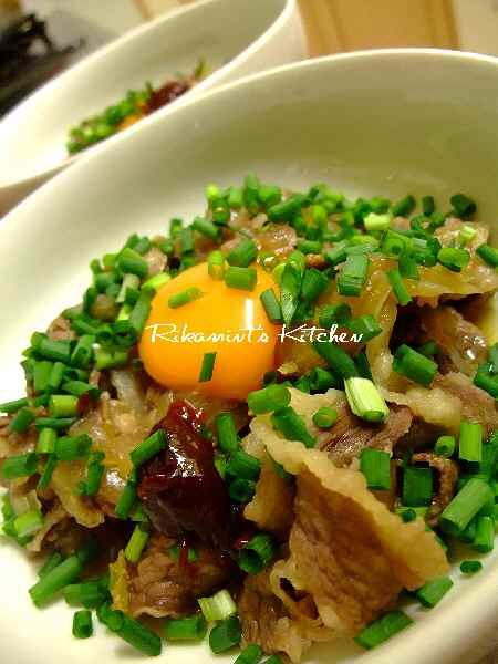 DSCF1・27辛ネギ牛皿2