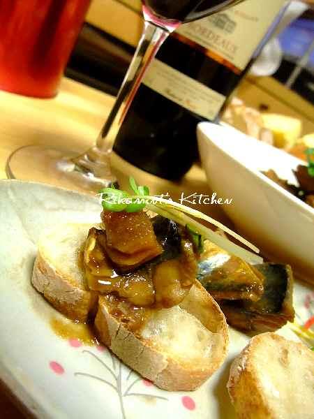 DSCF3・25さば味噌&ワイン (3)