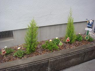 花壇の飾り