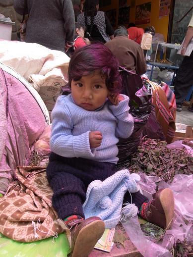 a girl at the mercado