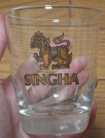 シンハー・ビールロックグラス