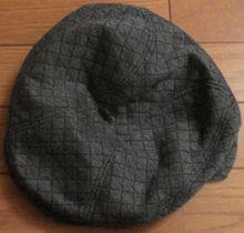 キルティングハンチング帽