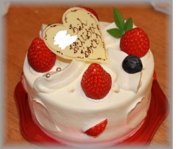 家族でケーキ